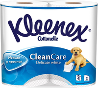 Туалетная бумага Kleenex Clean Care Delicate White