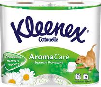 Туалетная бумага Kleenex Aroma Care Нежная Ромашка