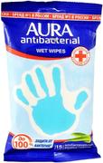 Aura Antibacterial Алоэ салфетки влажные антибактериальные