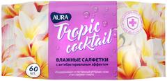 Aura Tropic Cocktail салфетки влажные с антибактериальным эффектом