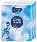 Одноразовые покрытия для унитаза Aura Comfort