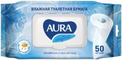 Aura Comfort Экстракт Ромашки влажная туалетная бумага