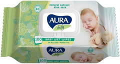 Aura Baby салфетки влажные для детей 0+