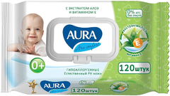 Aura Baby Алоэ салфетки влажные для детей 0+