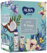 Aura Beauty Be Happy подарочный набор (крем-гель для душа + крем для рук)