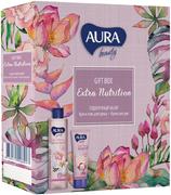 Aura Beauty Extra Nutrition подарочный набор (крем-гель для душа + крем для рук)