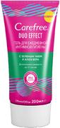 Carefree Duo Effect c Зеленым Чаем и Алоэ Вера гель для ежедневной интимной гигиены