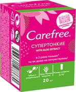 Carefree with Aloe Extract салфетки ежедневные супертонкие (прокладки)