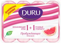 Duru 1+1 Увлажняющий Крем и Розовый Грейпрут мыло туалетное пробуждающее
