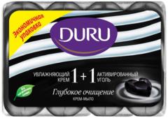 Duru 1+1 Увлжняющий Крем и Активированный Уголь мыло туалетное