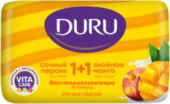 Duru 1+1 Сочный Персик и Знойное Манго крем-мыло восстанавливающее