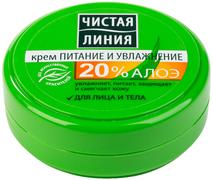 Чистая Линия Питание и Увлажнение крем для лица и тела