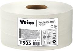 Туалетная бумага в средних рулонах Veiro Professional Premium