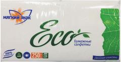 Мягкий Знак Eco салфетки бумажные однослойные