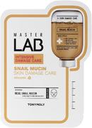Tony Moly Master Lab Snail Mucin Skin Damage Care тканевая маска для лица с улиточным муцином