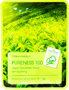 Tony Moly Pureness 100 Green Tea Mask Sheet Moisturizing тканевая маска для лица с экстрактом зеленого чая