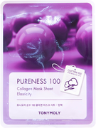 Tony Moly Pureness 100 Collagen Mask Sheet Elasticity тканевая маска для лица с коллагеном