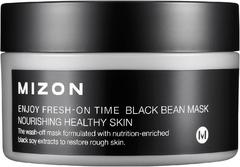 Mizon Enjoy Fresh On-Time Black Bean Mask маска антивозрастная с черными соевыми бобами