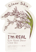 Tony Moly I'm Real Rice Mask Sheet Clear Skin тканевая маска для лица с экстрактом риса