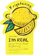 Tony Moly I'm Real Lemon Mask Sheet Brightening тканевая осветляющая маска для лица с экстрактом лимона