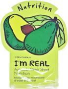 Tony Moly I'm Real Avocado Mask Sheet Nutrition тканевая питательная маска с экстрактом авокадо