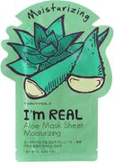 Tony Moly I'm Real Aloe Mask Sheet Moisturizing тканевая увлажняющая маска с экстрактом алоэ