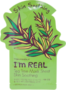 Tony Moly I'm Real Tea Tree Mask Sheet Skin Soothing тканевая маска с экстрактом чайного дерева