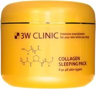 3W Clinic Collagen Sleeping Pack гель-маска ночная для всех типов кожи лица с коллагеном