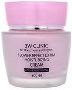 3W Clinic Flower Effect Extra Moisturzing Cream крем для сухой и нормальной кожи лица экстра-увлажнение