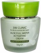 3W Clinic Aloe Full Water Activating Cream крем для сухой и нормальной кожи лица с экстрактом алоэ
