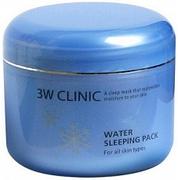 3W Clinic Water Sleeping Pack гель-маска ночная для всех типов кожи лица суперувлажнение