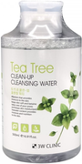 3W Clinic Tea Tree Clean-Up Cleansing Water очищающая вода с экстрактом чайного дерева
