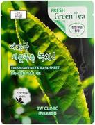 3W Clinic Fresh Green Tea Mask Sheet тканевая маска для лица с экстрактом зеленого чая
