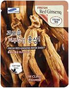 3W Clinic Fresh Red Ginseng Mask Sheet тканевая маска для лица с красным женьшенем
