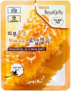 3W Clinic Fresh Royal Jelly Mask Sheet маска для лица освежающая с пчелиным молочком