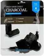 3W Clinic Fresh Charcoal Mask Sheet тканевая маска для лица с древесным углем