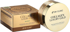 3W Clinic Collagen Luxury Gold Hydrogel Eye & Spot Patch гидрогелевые патчи для глаз с коллагеном и золотом