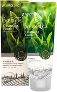 3W Clinic Green Tea Cleansing Foam пенка для умывания с экстрактом зеленого чая