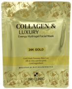 3W Clinic Collagen & Luxury Gold Energy Hydrogel Facial Mask гидрогелевая маска с коллагеном и золотом