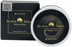 3W Clinic Black Snail Glitter Eye Patch гидрогелевые патчи для век с муцином черной улитки