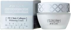 3W Clinic Collagen Whitening Cream крем для кожи лица и шеи с морским коллагеном