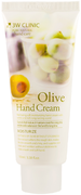 3W Clinic Olive Hand Cream крем для рук увлажняющий с экстрактом оливы