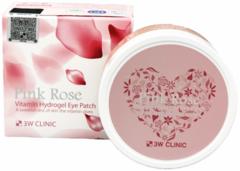 3W Clinic Pink Rose Vitamin Hydrogel Eye Patch гидрогелевые патчи для век с экстрактом розы