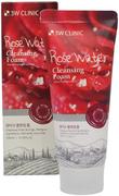 3W Clinic Rose Water Cleansing Foam пенка для умывания с розовой водой