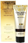 3W Clinic Collagen Luxury Gold Peel Off Pack маска-пленка золотая для лица с коллагеном и золотом