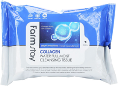 Farmstay Collagen Water Full Moist Cleansing Tissue очищающие салфетки для лица