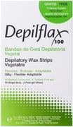 Depilflax 100 Depilatory Wax Strips Vegetable комплект для депиляции с воском (полоски + гель + салфетки)