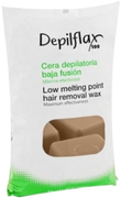 Depilflax 100 Low Melting Point Hair Removal Wax горячий воск в брикетах капучино