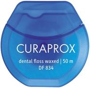 Curaprox Dental Floss Waxed нить межзубная вощеная с мятным вкусом