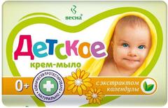 Весна Детское с Экстрактом Календулы крем-мыло 0+